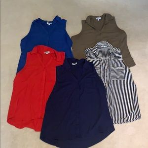 Set of 5 Express Portofino Tops size Large